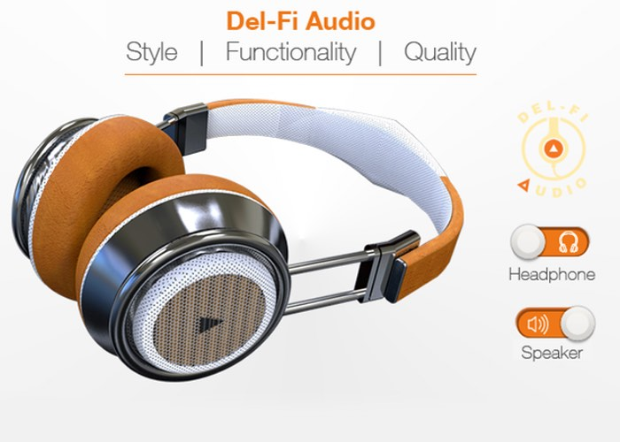 Del-Fi Audio Headphones Are Also Bluetooth Speakers