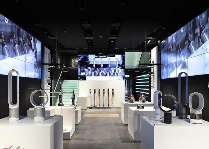 dyson opens first british retail store in london geeky gadgets. Black Bedroom Furniture Sets. Home Design Ideas