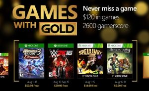 Free Xbox Live Gold Games For August 2016 (video)