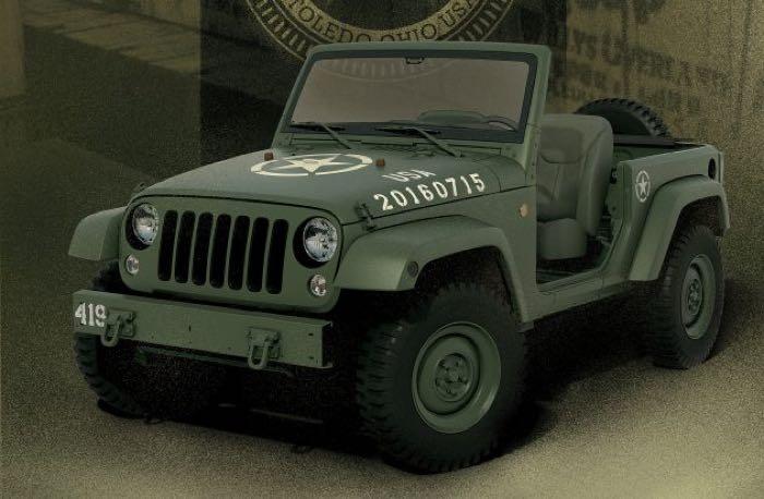 Jeep Wrangler concept 'salutes' original Willys