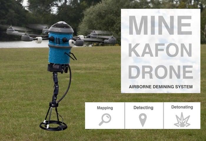 Mine Kafon Drone Airborne Demining System