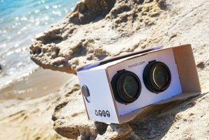 Nunulo Cardboard VR Headset Includes Adjustable Lenses (video)