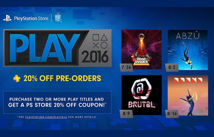 PlayStation Store PLAY 2016