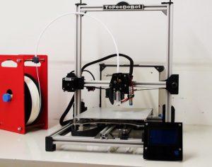 TOPEEDOBOT Folding Portable 3D Printer (video)
