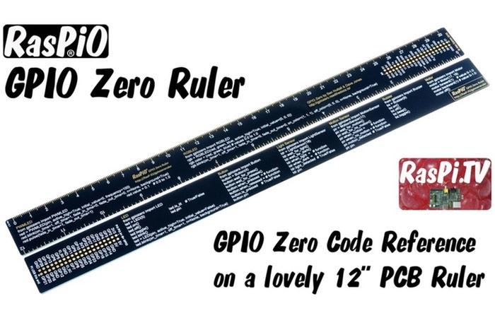 Raspberry Pi RasPiO GPIO Zero Code Reference Ruler