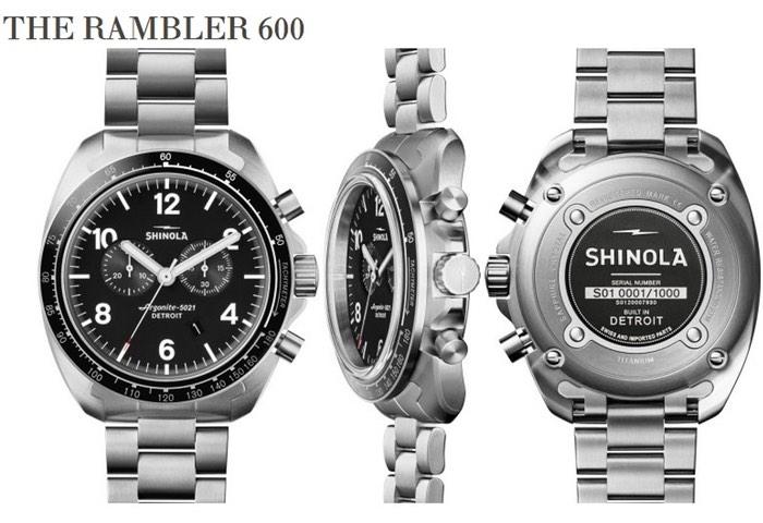 Shinola Rambler 600 Watch