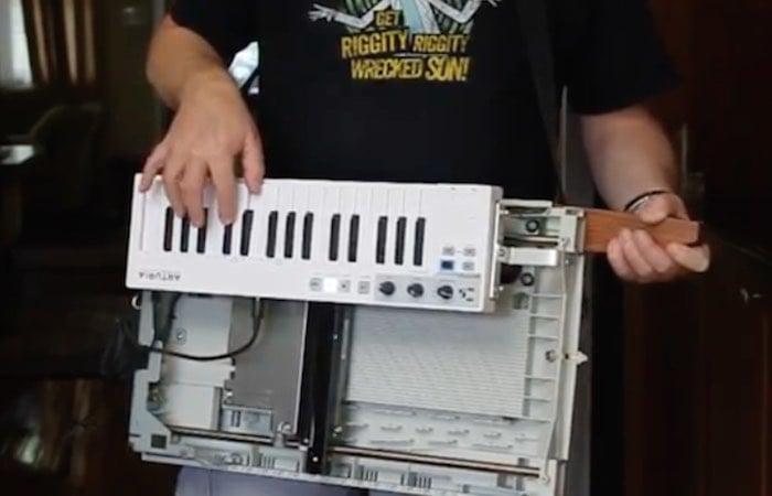 Arduino MIDI Controlled Scanjet Keytar