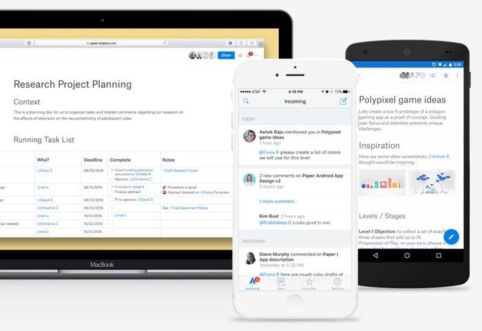 Dropbox Paper Apps