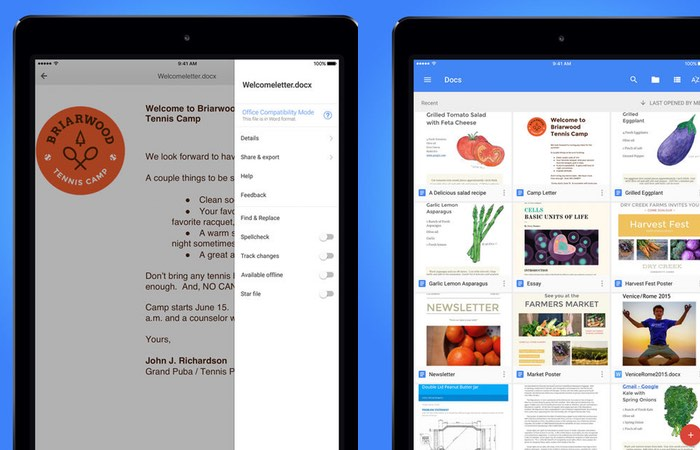 Google Docs Now Supports iPad Multitasking
