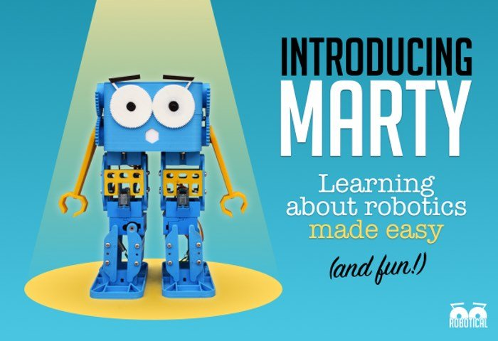 Marty The Robot Makes Learning About Robotics Easy (video)