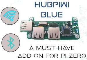 Raspberry Pi Zero HubPiWi Blue Adds WiFi, USB Ports And More (video)