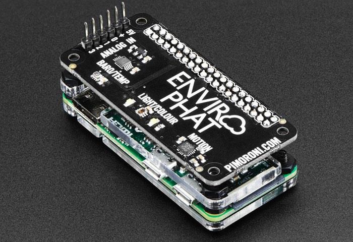 Raspberry Pi Zero Pimoroni Enviro pHAT