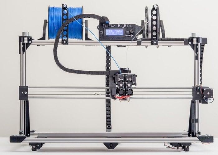 RepRap BigBot Large 3D Printer (video)