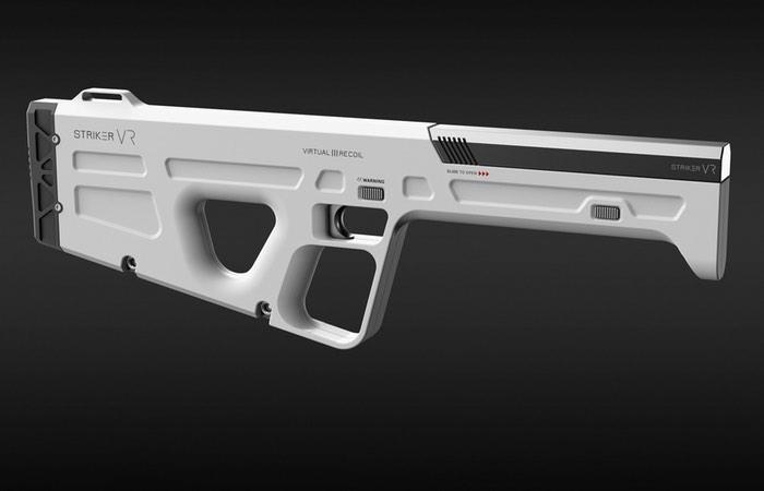 Striker VR Demonstrates ARENA Infinity Haptic VR Gun
