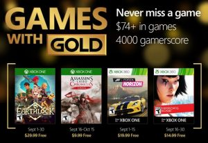 Xbox Live Games With Gold For September 2016 Unveiled (video)