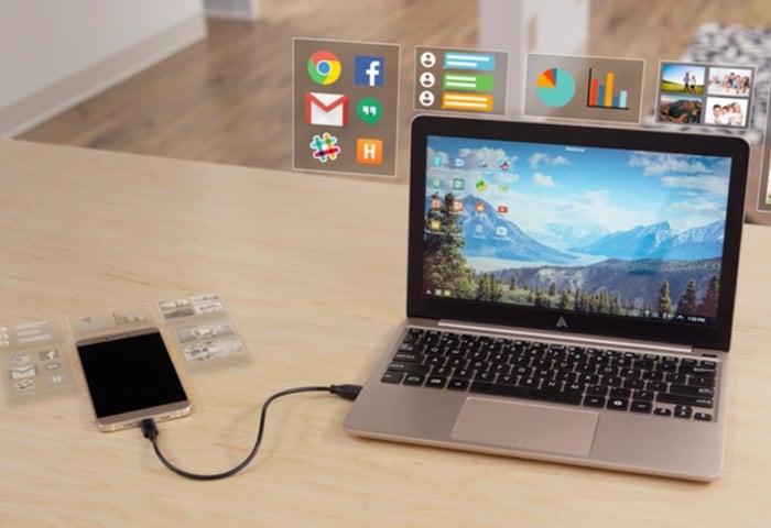 Android Smartphone Superbook Laptop Dock