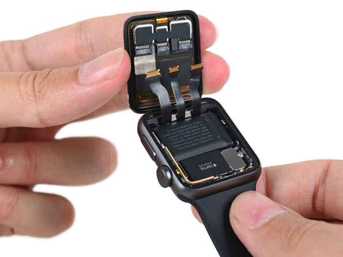 apple watch series 2 taken apart by ifixit geeky gadgets