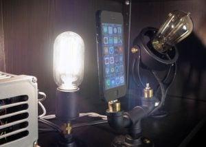 SteamPunk Arduino Smartphone Charging Dock (video)