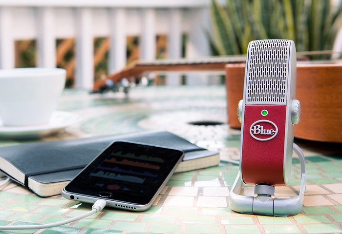 Blue Raspberry Portable Condenser Microphone