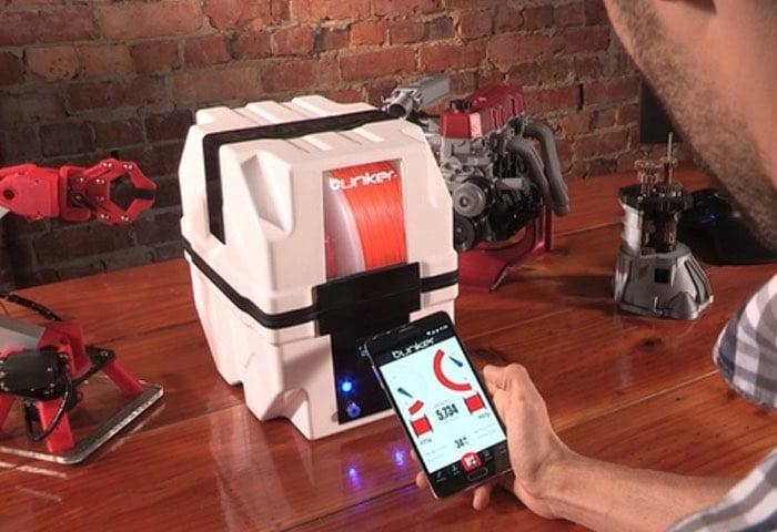 Bunker Smart 3D Printer Filament Storage System