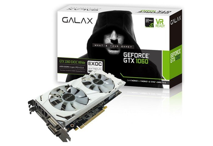 GALAX GeForce GTX 1060 6GB EXOC White Edition Graphics Card