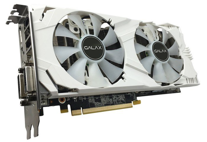 GALAX GeForce GTX 1060 6GB EXOC White Edition Graphics Card