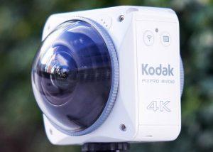 Kodak 4KVR360 Action Camera Capture Full 4K VR Ready Footage