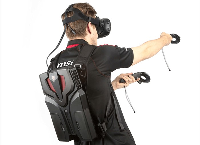 MSI's thin, light and quiet VR backpack is literally the coolest yet