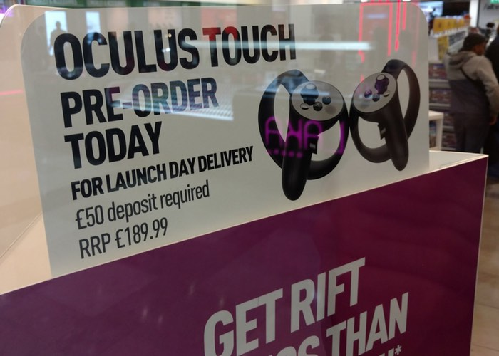 Oculus Touch VR Controllers Will Cost £190 Reveals Game Store