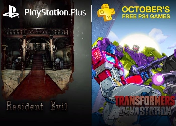 'Resident Evil HD,' 'Transformers: Devastation' free with PlayStation Plus in October