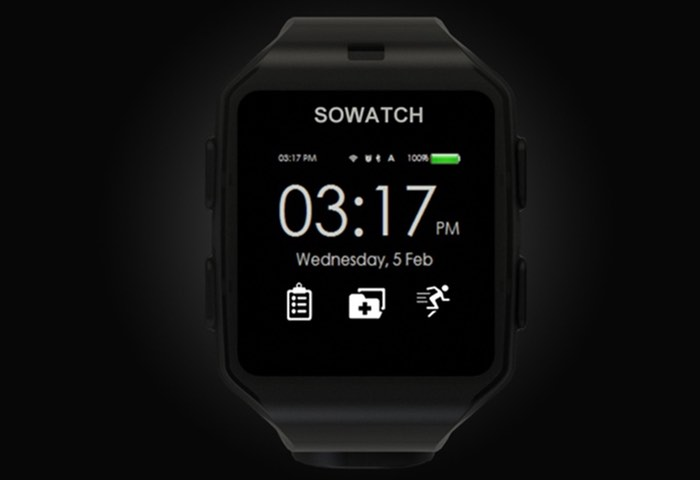 SOWATCH Autonomous Smartwatch And Fitness Tracker