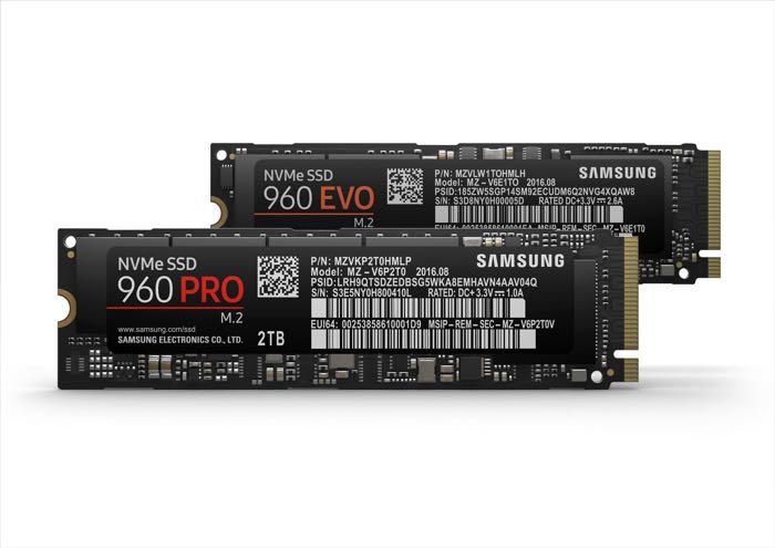 Samsung 960 Pro And 960 EVO