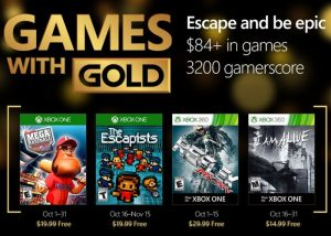 Xbox Live Games With Gold For October 2016 (video)