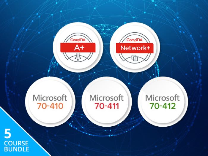 CompTIA & Microsoft Windows Server Administrator Certification Bundle
