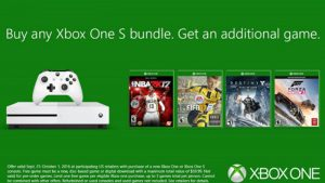 Microsoft Offering Free Extra Game With Any Xbox One S Bundle