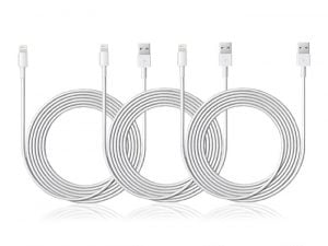 Last Minute Deal: 10-Ft MFi-Certified Lightning Cable: 3-Pack