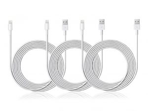 Last Minute Deal: 10-Ft MFi-Certified Lightning Cable: 3-Pack, Save 83%