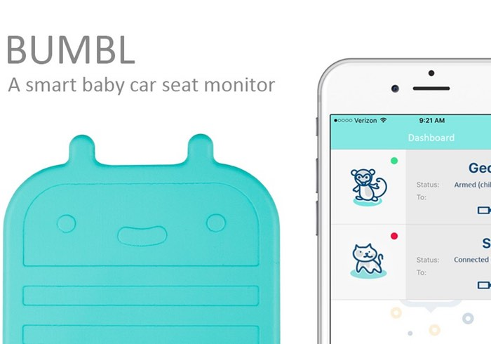 Bumbl In-Car Smart Baby Seat Monitor