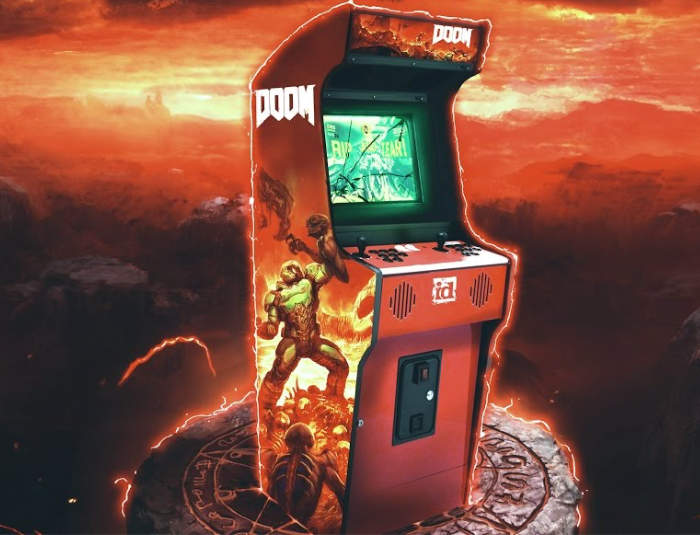 DOOM Arcade Mode Demonstrated
