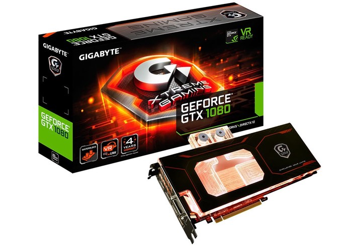 GIGABYTE GeForce GTX 1080 Xtreme Gaming WaterForce