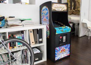 Raspberry Pi Powered Galaga Arcade Machine Cabinet (video)