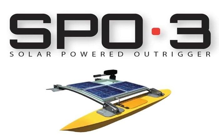 SPO-3 Solar Powered Canoe Outrigger