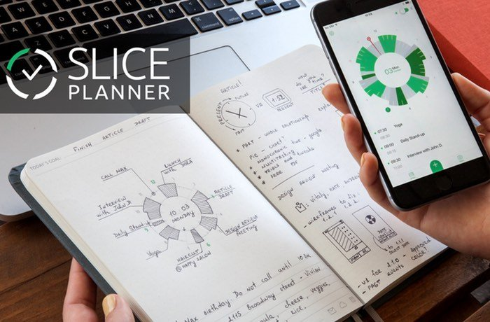 Calendar Notebook App : Innovative slice planner combines digital calendars and