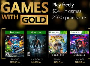 Free Xbox Games With Gold November 2016 (video)