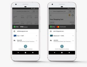 Google's Android Pay Now Supports Visa And Mastercard Online