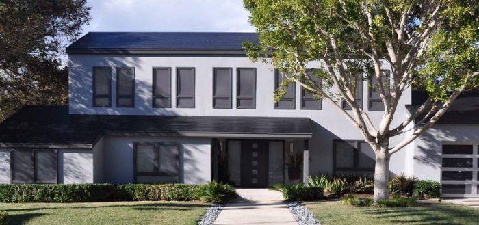 Tesla solar panel roof tiles