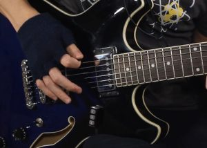 Hands Free MIDI Guitar Controller (video)