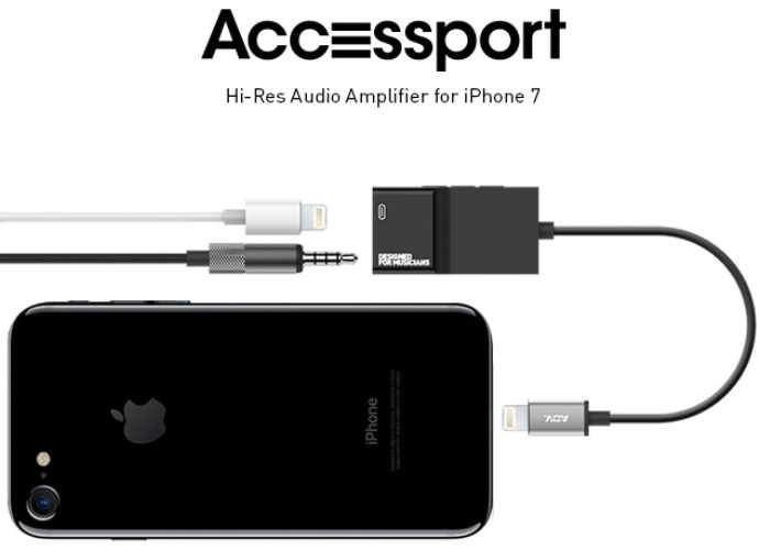 Accessport Hi-Res Audio Amplifier And Charger For iPhone 7