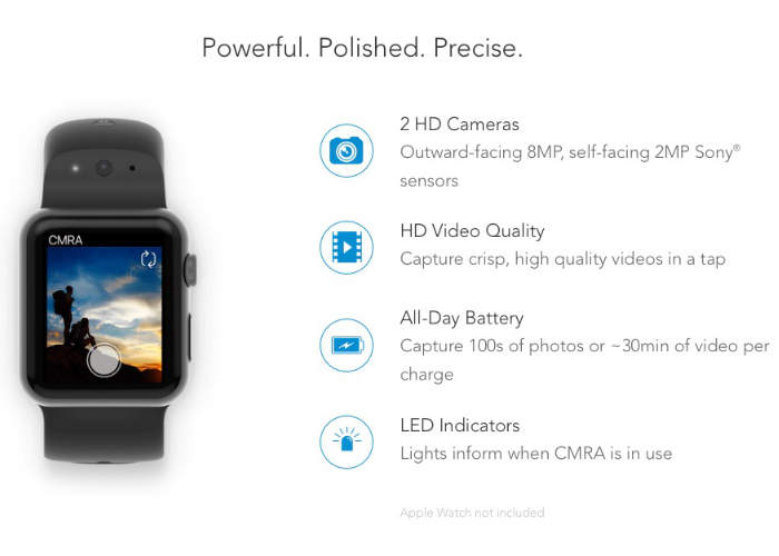Apple Watch camera strap