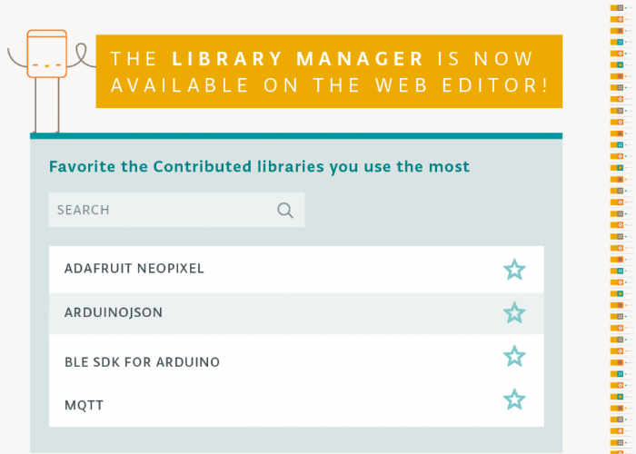 Arduino Library Manager Now Available Via Online Web Editor